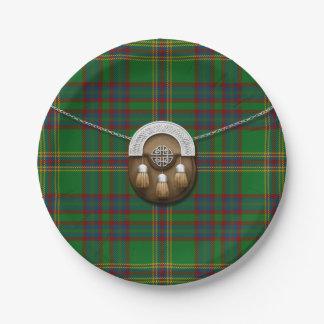 County Westmeath Irish Tartan And Sporran Paper Plate