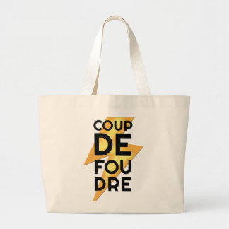 Coup de Foudre - Lightning Strike French Jumbo Tote Bag