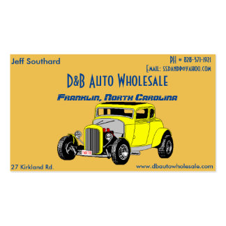 Coupe Jeff Southard Card Pack Of Standard Business Cards