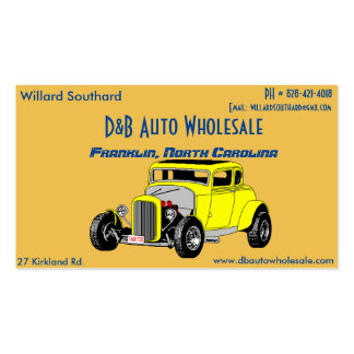 Coupe Willard Southard Card Pack Of Standard Business Cards