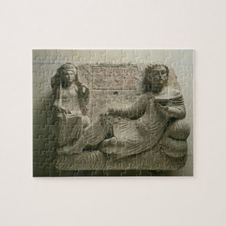 Couple at a banquet, tomb find from Palmyra, Syria Puzzles