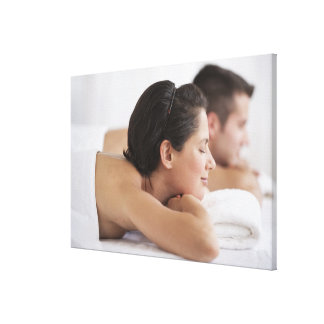 Couple at spa gallery wrap canvas