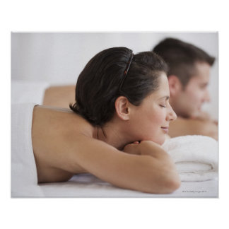 Couple at spa posters