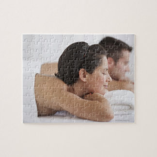 Couple at spa jigsaw puzzle
