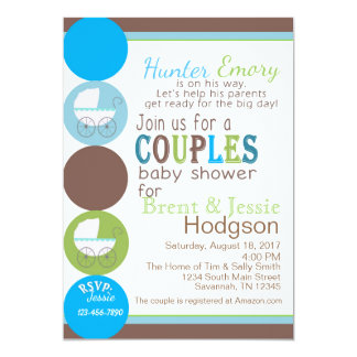 Couple Baby Shower Card