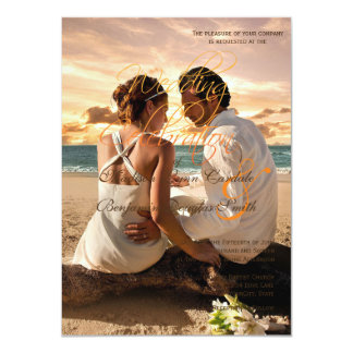 Couple Beach Love Relationships/Wedding invitation