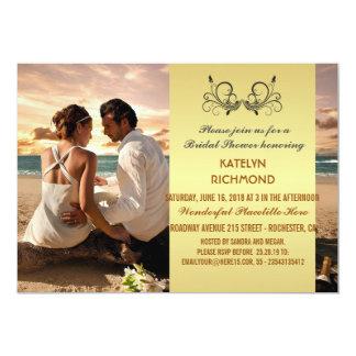 Couple Beach Love Relationships/Wedding invitation