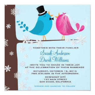 Couple Birds On Branch | Wedding Invitation
