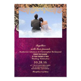couple boy girl love clouds 13 cm x 18 cm invitation card