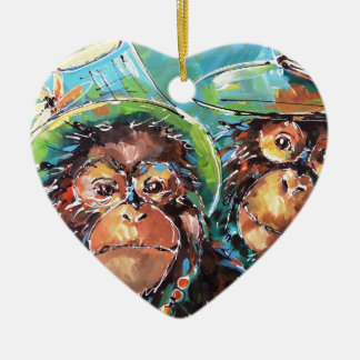Couple Ceramic Heart Decoration