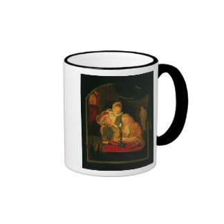 Couple counting money by candlelight, 1779 mug