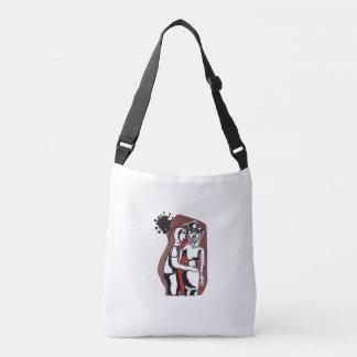 Couple crosshatch crossbody bag