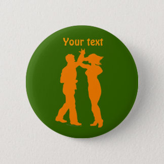 Couple Dance Spin Dancing Silhouette 6 Cm Round Badge