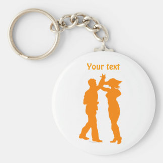 Couple Dance Spin Dancing Silhouette Key Ring