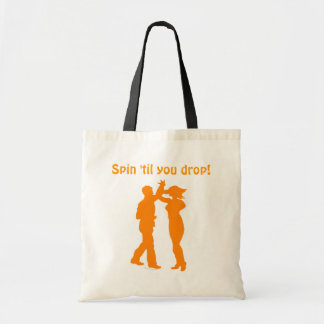 Couple Dance Spin Dancing Silhouette Tote Bag