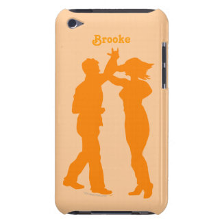 Couple Dance Spin Silhouette Personalized Cover Barely There iPod Case
