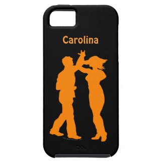 Couple Dance Spin Silhouette Personalized iphone 5 iPhone 5 Cover