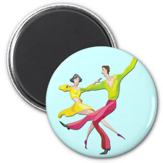 Couple Dancing 6 Cm Round Magnet