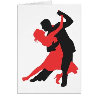 couple dancing greeting card