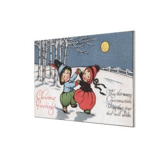 Couple Dancing in Moonlight Gallery Wrap Canvas