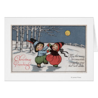 Couple Dancing in Moonlight Greeting Card