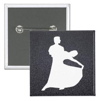 Couple Dancings Graphic 15 Cm Square Badge
