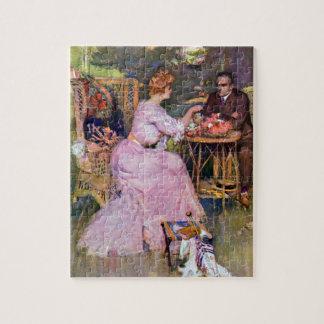Couple Dining Al Fresco Jigsaw Puzzle