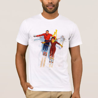 Couple Downhill Skiing T-Shirt