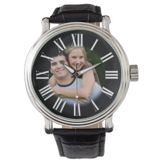 Couple Engagement Portrait Your Photo in Center Watch
