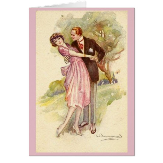 Couple Falling in Love, Card