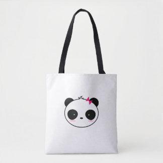 Couple Girl And Boy Panda Tote Bag