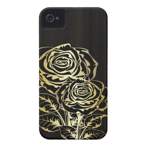 Couple Golden Roses iPhone 4 Case