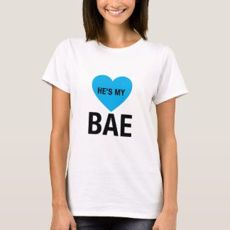 Couple He's My Bae T-Shirt