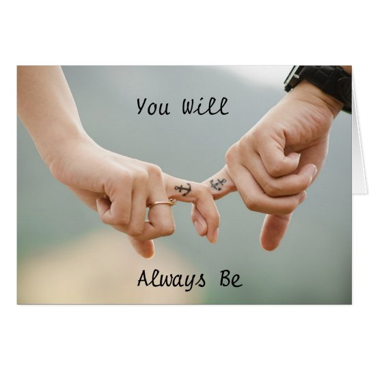 """Couple Holding Hands """"You are my Anchor"""" card"""