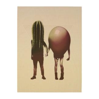 Couple Hori Wood Print