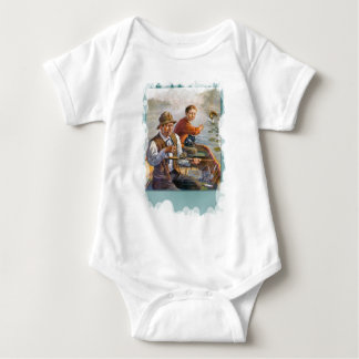 Couple in a boat baby bodysuit
