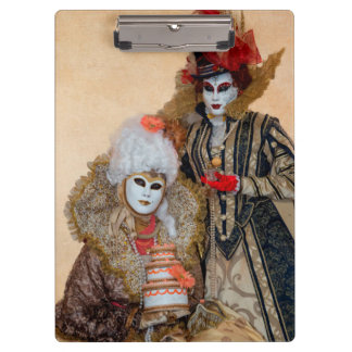 Couple in Carnival Costume, Venice Clipboards