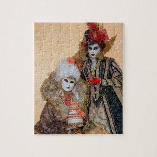 Couple in Carnival Costume, Venice Jigsaw Puzzle