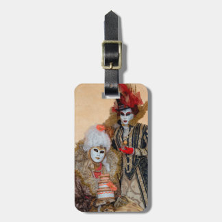 Couple in Carnival Costume, Venice Luggage Tag