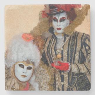Couple in Carnival Costume, Venice Stone Coaster