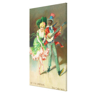 Couple in Costume Doing the Cake-Walk Gallery Wrapped Canvas
