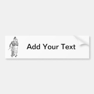 Couple in Love - Add Your Own Text Bumper Sticker