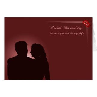 Couple in love. Merlot. Card