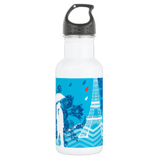 Couple in Paris with Eiffle Tower 532 Ml Water Bottle