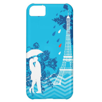 Couple in Paris with Eiffle Tower iPhone 5C Case