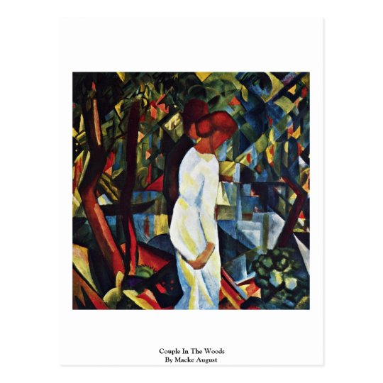 Couple In The Woods By Macke August Postcard