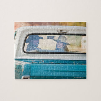 Couple in truck jigsaw puzzles