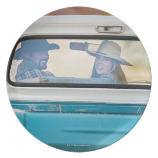 Couple in truck plate