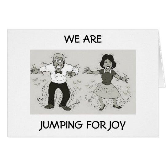 COUPLE IS JUMPING FOR JOY ON YOUR BIRTHDAY