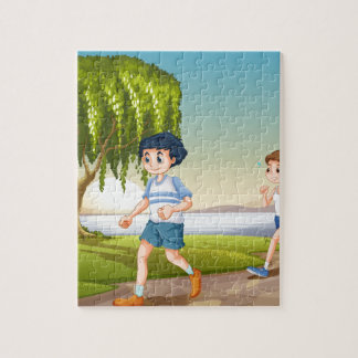 Couple jogging jigsaw puzzle